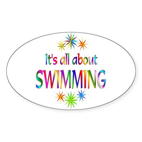 Swimming Oval Sticker