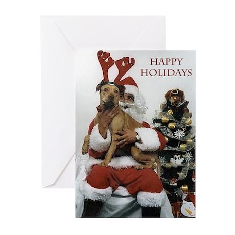 Reindeer Red Greeting Cards
