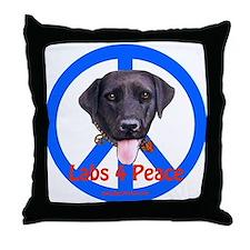 Black Labs Throw Pillow
