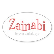 For Zaynab (a.s.) Oval Decal