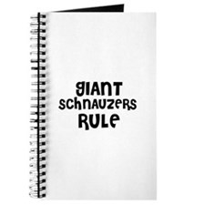 GIANT SCHNAUZERS RULE Journal