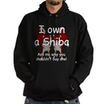 Ask Me Why Not To Buy A Shiba Hoodie (dark)