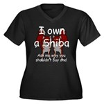 Ask Me Why Not To Buy A Shiba Women's Plus Size V-