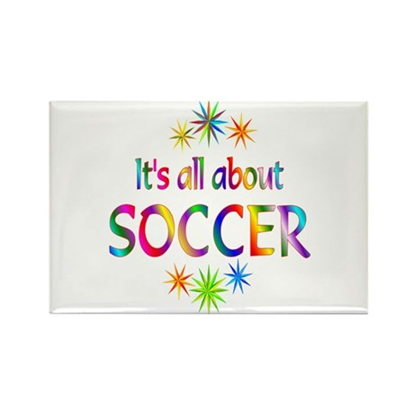 Soccer Rectangle Magnet (100 pack)