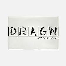 Drag'n Anti-Drug Rectangle Magnet