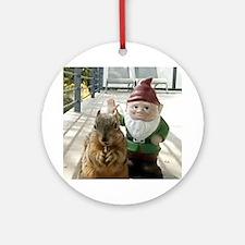 Bad Manors Gnome Round Ornament