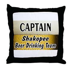 Shakopee Beer Drinking Team Throw Pillow