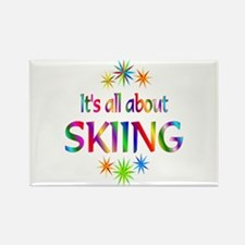 Skiing Rectangle Magnet (100 pack)