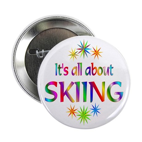 "Skiing 2.25"" Button (100 pack)"