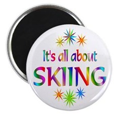 """Skiing 2.25"""" Magnet (100 pack)"""