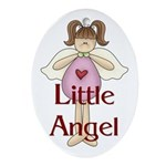 Little Angel Whimsy Design Oval Ornament