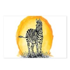 Zebra Sunset Postcards (Package of 8)