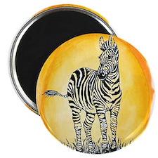 Zebra Sunset Magnet