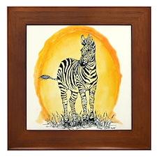 Zebra Sunset Framed Tile