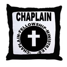 Cute Chaplain fellowship ministries Throw Pillow