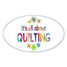 Quilting Oval Bumper Stickers