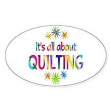 Quilting Oval Stickers