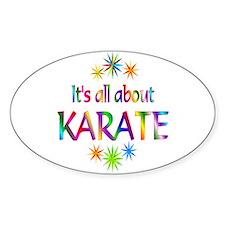 Karate Oval Sticker (10 pk)
