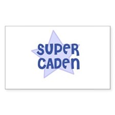 Super Caden Rectangle Decal