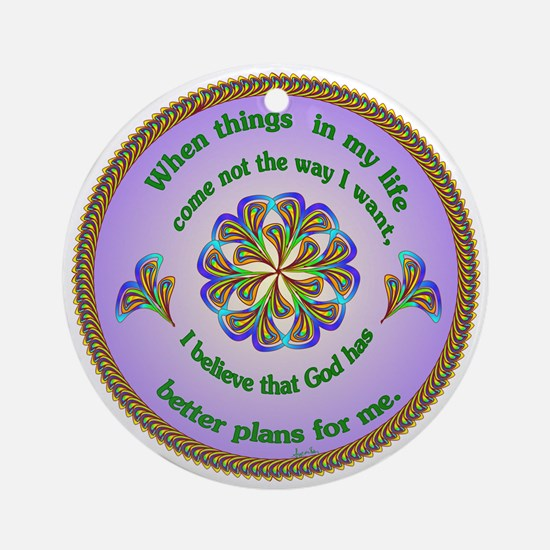 Quotations - Affirmations Ornament (Round)
