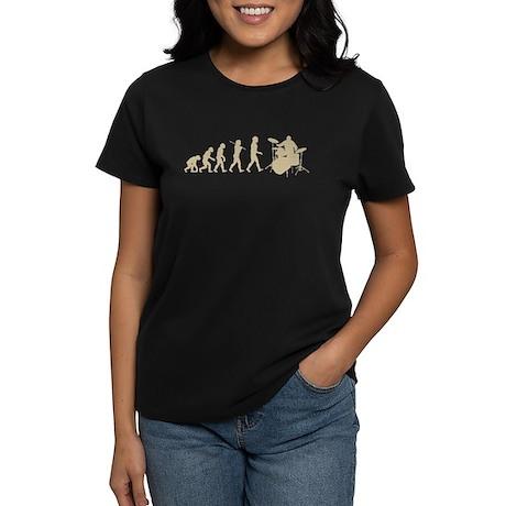 Evolution of Drumming Women's Dark T-Shirt