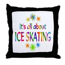 Ice Skating Throw Pillow