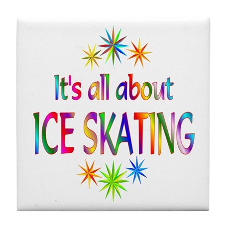 Ice Skating Tile Coaster