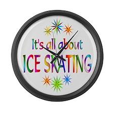 Ice Skating Large Wall Clock
