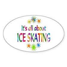 Ice Skating Oval Decal