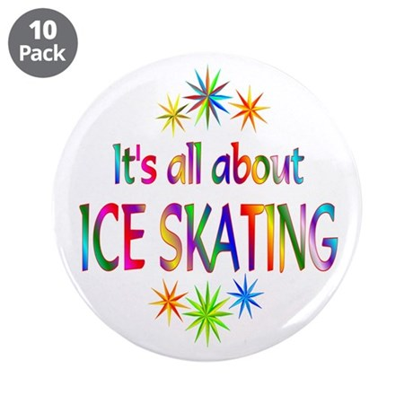 """Ice Skating 3.5"""" Button (10 pack)"""