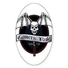 Gamers Rule Oval Decal