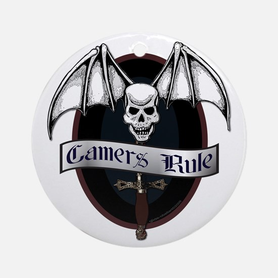 Gamers Rule Ornament (Round)