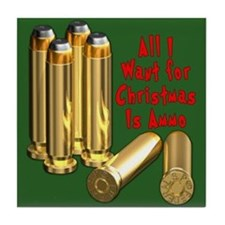 Christmas Ammo Wish Tile Coaster