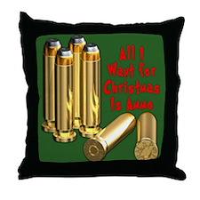 Christmas Ammo Wish Throw Pillow