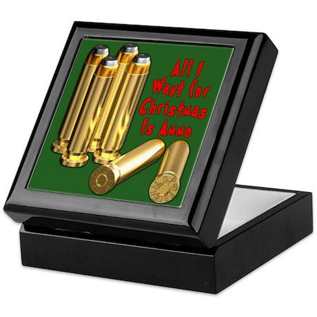 Christmas Ammo Wish Keepsake Box
