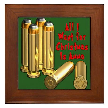 Christmas Ammo Wish Framed Tile