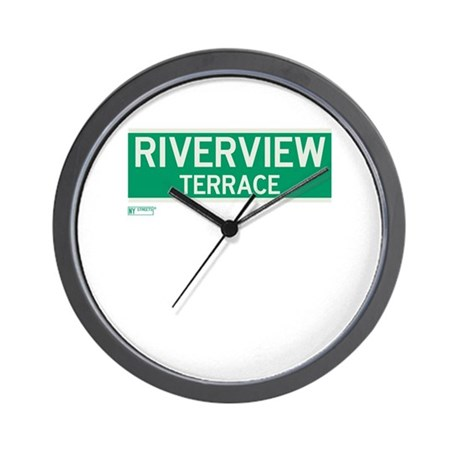 Riverview Terrace in NY Wall Clock
