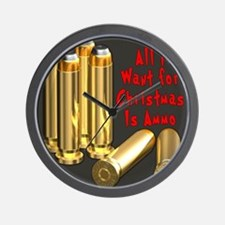 Christmas Ammo Wish Wall Clock