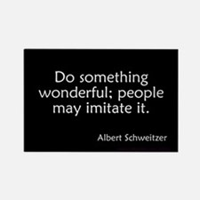 Do Something Wonderful Schweitzer Rectangle Magnet