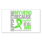 Hero NonHodgkinsLymphoma Rectangle Sticker 10 pk)