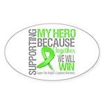 Hero NonHodgkinsLymphoma Oval Sticker (10 pk)