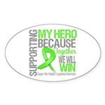 Hero NonHodgkinsLymphoma Oval Sticker (50 pk)