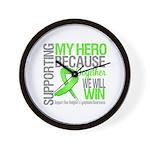 Hero NonHodgkinsLymphoma Wall Clock