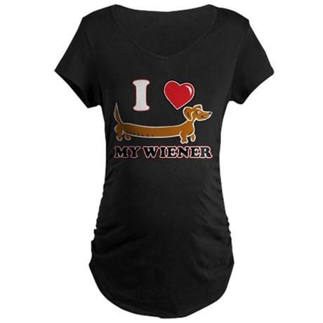 I love my Wiener Maternity Dark T-Shirt