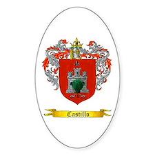 Castillo Family crest Oval Decal