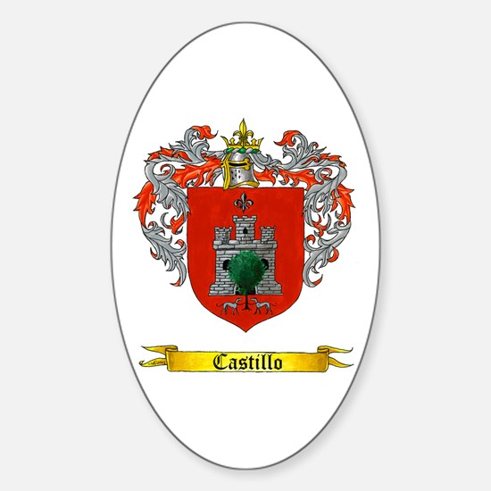 Castillo Family crest Oval Decal