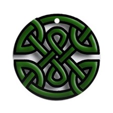 Celtic Leaves Ornament (Round)