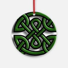 Celtic Leaves Ornament (Round)