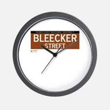 Bleecker Street in NY Wall Clock