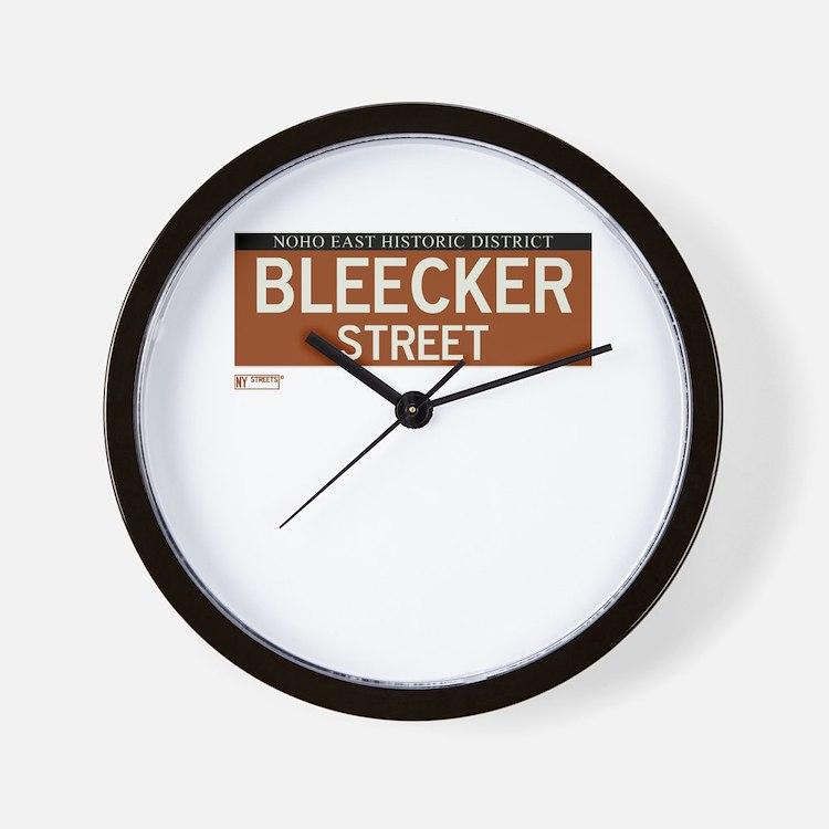 Bleecker Street in NY Wall Clock